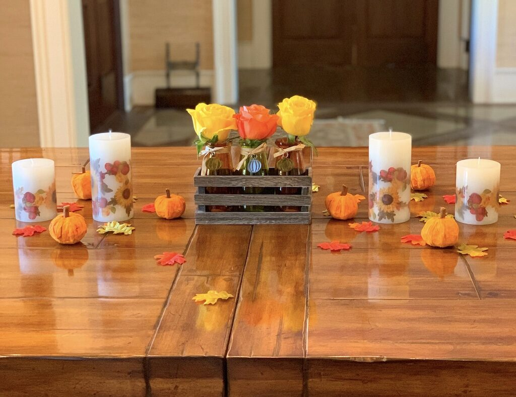 Fall-flowers-candles