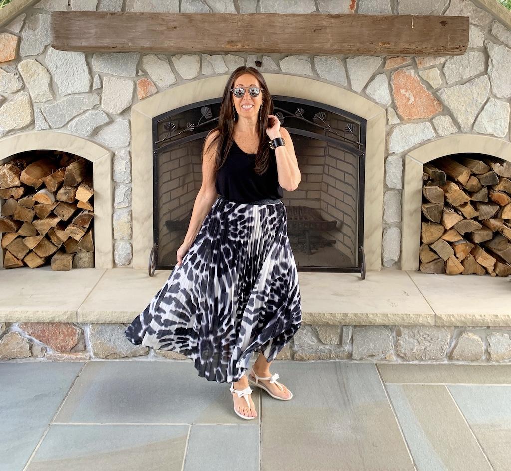black-white-skirt
